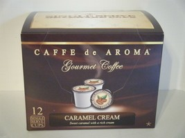 Caffe de Aroma Caramel Cream flavored 12 Single Serve K-Cups OK for 2.0 - $10.45