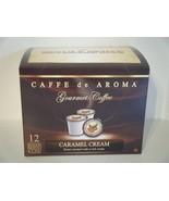 Caffe de Aroma Caramel Cream flavored 12 Single Serve K-Cups OK for 2.0 - $10.45