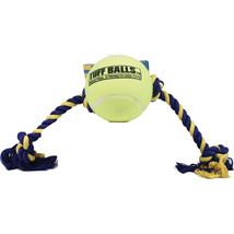 Petsport Yellow Mega Tuff Ball Tug Dog Toy 6 In - $41.11 CAD