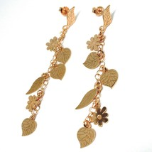 Drop Earrings Silver 925, Leaves, Flowers, Daisies, Woodland, le Favole image 2