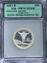 2007 S Montana State Quarter Silver PR70DCAM ICG Toned - $44.55
