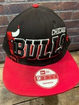 Chicago BULLS Black Red White New Era Windy City Snapback Adult Cap Hat - $19.79