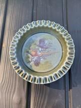 """Wade Ireland Ashtray 6"""" Irish Porcelain Pheasants Scene Wine Bottle Coaster - $24.74"""