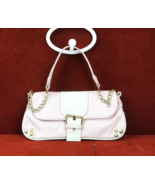 Celine Pink Canvas Leather Gold Chain Shoulder Bag Handbag  - £95.31 GBP