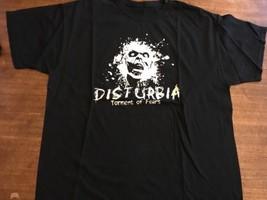 Vintage Black Disturbia Torment Of Fears T-SHIRT Large - $12.83