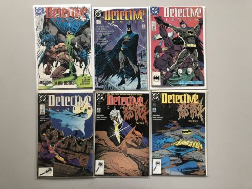 Lot of 12 Detective Comics (1937 1st Series) from #599-612 VF Very Fine