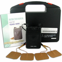 NEW TENS UNIT 3000 Analog UNIT & ELECTRODES PADS,COMPLETE-FREE fast SHIP... - $55.20