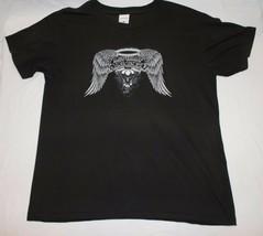 Asphalt Ange T-Shirt L Moto Moto Motard Noir Panhead Evolution - $18.85