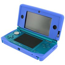 ZedLabz soft gel silicone cover case for Nintendo 3DS protective bumper - Blue - $2.95+