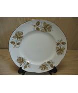 Fine Bone China Qty 2 Plates Gold Rim & Roses Crown Staffordshire Englan... - $9.95