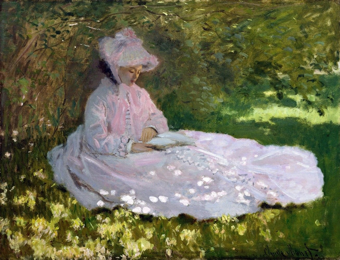 Springtime Painting by Claude Monet Art Reproduction