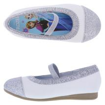 New Frozen Girls' Toddler Captoe Ballet Flats Shoes Sizes 5.5 6 6.5 Whit... - $19.99