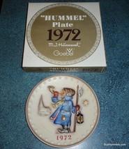 "GOEBEL HUMMEL 1972 Hand Painted ""Hear Ye, Hear Ye"" Annual Plate - 2nd in... - $18.42"