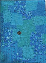"FABRIC TRADITIONS Faux Patchwork Fabric  BTY  44"" W Heavy Cotton Blend - $3.86"