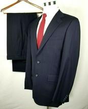 Tom James Suit Size 38 Regular 32 x 33 Navy Blue Pinstripes Vintage Wool... - $80.14