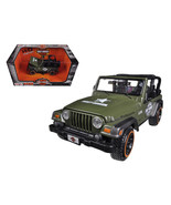 Jeep Wrangler Rubicon Harley Davidson Green 1/27 Diecast Model by Maisto... - $32.28