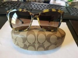COACH HC 8156Q 532413 Sunglasses Dark Vintage Tortoise ~ Brown Gradient ... - $63.36