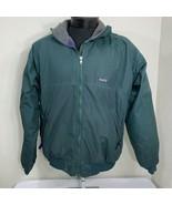 Patagonia Jacket Fleece Lined Green Gray Men's Large Ski Coat Zip Winter... - $79.99