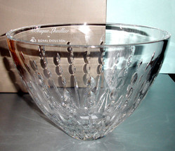 "Royal Doulton Monique Lhuillier Modern Love 10"" Bowl Crystal New Boxed - $49.90"