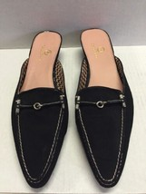 Cole Haan Women's Shoes Black Suede Kitten Heel Slip On Shoes Size 7.5 AA  - $52.37