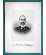 SETH MILLIKEN Poland Born Maine Financier - 1895 Portrait Antique Print - $12.29