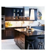"Ikea Laxarby Flat FRONT DRAWER FACE Black Brown Sektion kitchen 18"" X 5"" - $37.62"