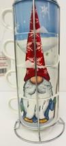 Christmas Gnome For The Holidays Stackable Mug Ceramic Winter Prima Desi... - $55.43