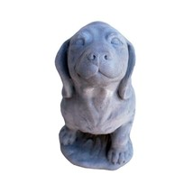 Garden Beautification Tool with Cast Stone Dachshund Garden Statue Anti... - $66.77
