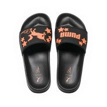 Sophia Webster X Puma Black Orange Rubber Leadcat Slide Sandals 9.5 NIB - $73.76