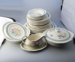 Antique English Pottery : Alfred Meakin Dinner Service 37 pices C. 1945+ - $172.59