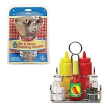 Melissa & Doug Let's Play House! Stir and Serve Cooking Utensils and Con... - $29.45