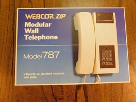 NEW VINTAGE Retro Push Button Modular Wall Telephone by WebCor Zip - $15.88