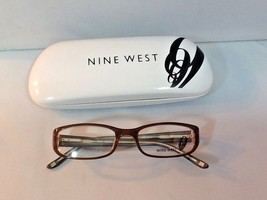 Nine West Youth Eyeglass Frames Rectangular Brown Multicolored Circles Legs - $23.99