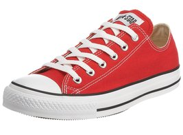 Converse Unisex Chuck Taylor All Star Ox Low Top Red Sneakers - 12 Men 1... - $62.77