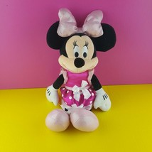 "Disney Just Play Plush Minnie Mouse Doll 16"" Stuffed Lights Sounds Giggl... - $20.78"