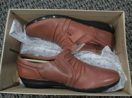 BNIB Clarks Everlay Coda Slip on Casual Shoes, women, tan, size 6.5 - $58.41