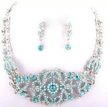 Womens Victorian Vintage Austrian Antique Aurora Borealis Choker Necklace Ab Set - $17.47