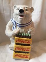 Coca-Cola Cookie Jar Large Polar Bear - $26.06