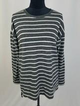 Lou & Grey M striped side zip light knit long sleeve sweatshirt  - $29.70
