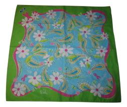 Lilly Pulitzer Breast Awareness Handkerchief Hanky Mens bandanna scarf A... - $9.40
