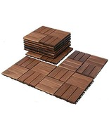 Mammoth Easy Lock Solid Acacia Interlocking Wood Deck Tiles, Suitable as... - $79.18