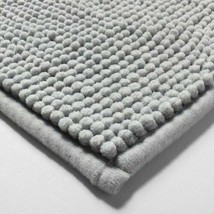 "MADE BY DESIGN Slip Resistant Soft Bath Rug - Gray  - 34"" x 20""  - STORE- NWT"