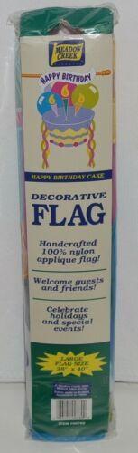 Meadow Creek 00789 Happy Birthday Sculpted Indoor Outdoor Decorative Banner