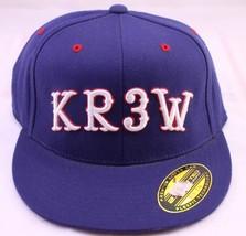 KREW Flexfit 210 Fitted 6 7/8 - 7 1/4 Navy Blue Hat Cap KR3W - $15.05
