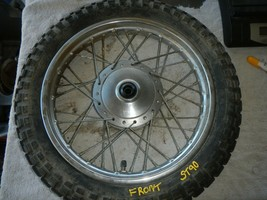 Front wheel rim hub 3.00-14 1973 1974 75 Honda ST90 ST 90 - $162.35