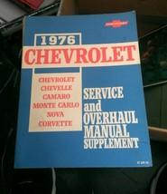 1976 Chevy Service and Overhaul Manual Supplement Chevelle Camaro Nova C... - $19.80