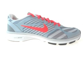Nike Dual Fusion Tr Print Women's Wolf GREY/RED Running Shoes, #579812-013 - $60.19