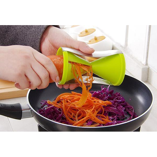 Spiral Slicer Vegetable Spaghetti Pasta Maker Twist Shred Peel (Free Shipping)