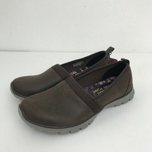 Skechers  Size 6 EZ Flex 3.0 Songful  Slip On Brown Faux Leather Sneakers Flats  - $39.59