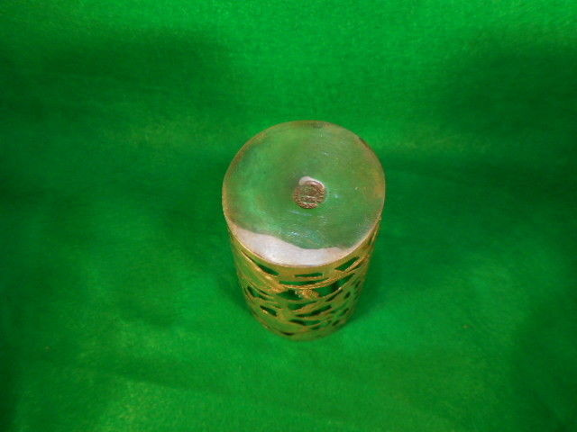 Vintage Mexican .925 Silver Glass Sleeve
